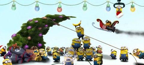 Рождество в желтых тонах.