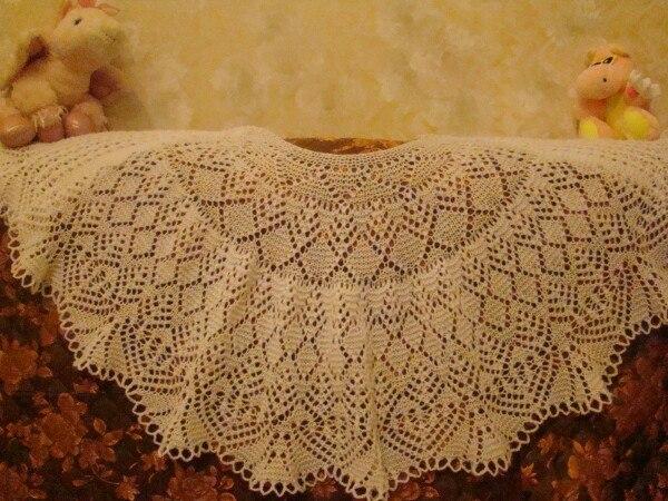 Машинное вязание шаль 59