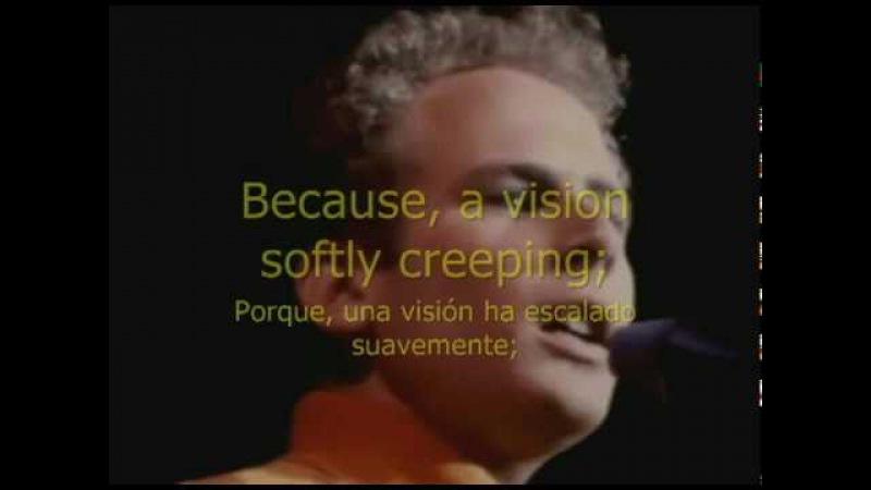 EL SONIDO DEL SILENCIO. Subtitulada en Ingles-Español.PAUL SIMON ART GARFUNKEL