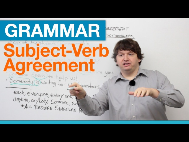 Subject-Verb Agreement with EACH, EVERY, ANY, SOME