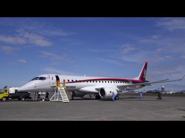国産初のジェット旅客機「MRJ」が初飛行 Mitsubishi Regional Jet takes off on maiden test flight