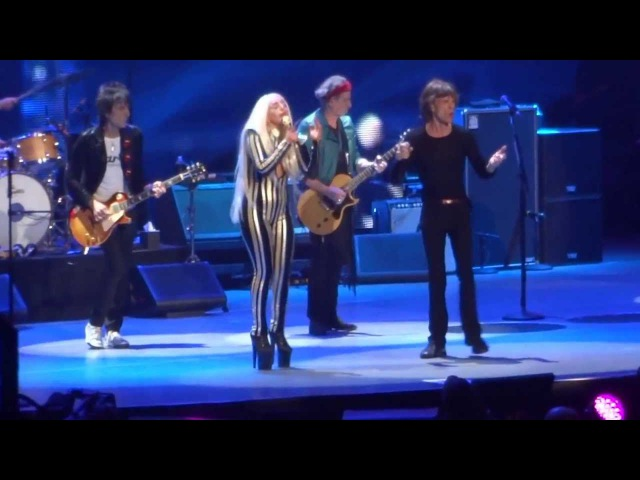 Rolling Stones with Lady Gaga  Gimme Shelter  @ Newark N J 15 12 12