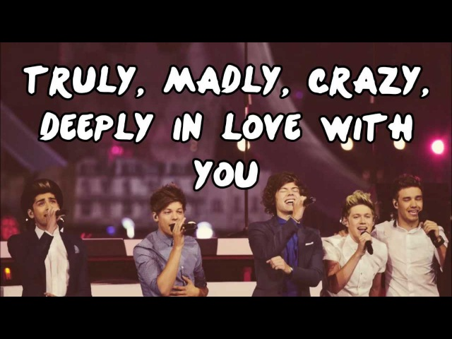 One Direction - Truly, Madly, Deeply (Lyrics Pictures Download Link)