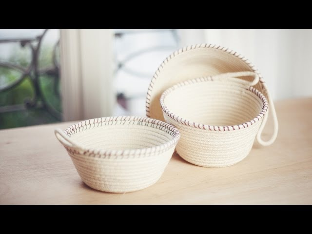 DIY Rope Baskets DIY Paniers à corde