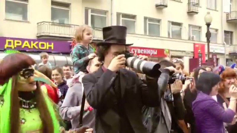 Парад мыльных пузырей Дримфлеш (DreamFlash) 2012 в Москве