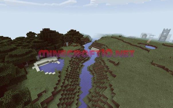 Seed на деревни и густой лес для Minecraft PE 0.11.1