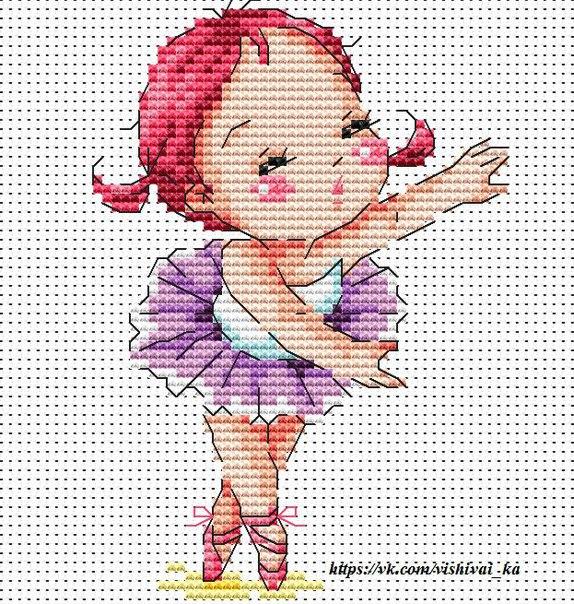 Вышивка крестом для маленьких девочек
