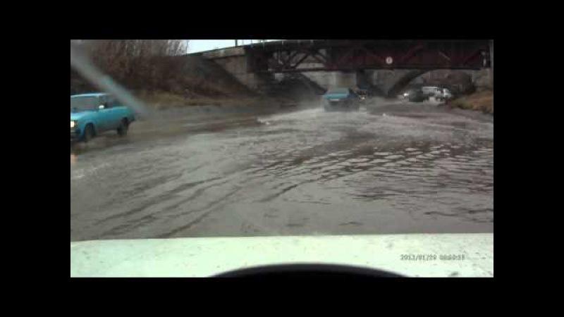 Потоп под Центральным мостом. 2015 год.