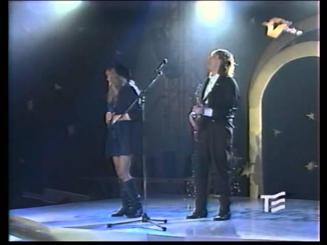 Алла Пугачева и Владимир Кузьмин на Парадиз коктейле (Москва, 01.01.1993 г.)