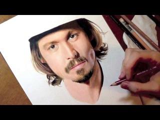 Drawing Johnny Depp. Heather Rooney art