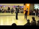 Семен Овсянников и Мария Елизарова - Demo на Новогодней вечеринке в Иваре 13.12.2014 West Coast Swing Свинг Западного Побережья