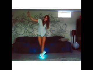 Amymarie Gaertner & LED Shoes