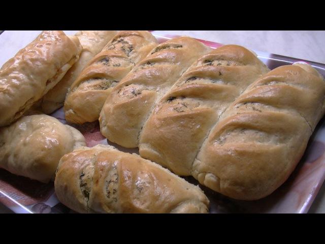 Хлебные булочки с начинкой,хлебное тестоBread rolls with filling, bread dough.