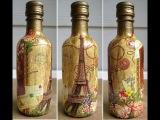 Красивый декупаж бутылок - поделки своими руками из стеклянных бутылок