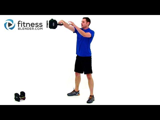 Кардио тренировка с гирей от Fitness Blender. Kettlebell Cardio Workout by FitnessBlender.com