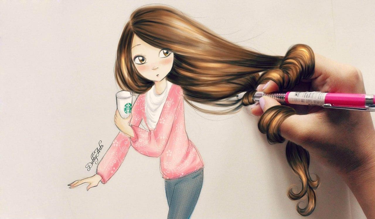 Фото на аву с нарисованными девочками