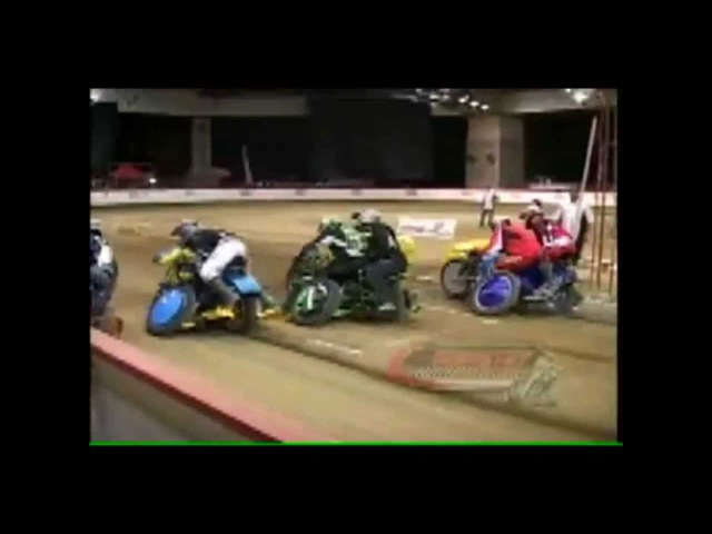 1000cc Sidecar Grasstrack and Speedway crashes compilation