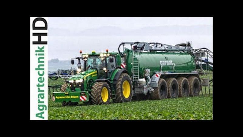 JOHN DEERE 8370R Traktor Kotte Garant PQ 32.000 im Einsatz | AgrartechnikHD