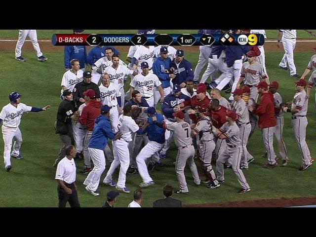Wild brawl erupts between Dodgers,