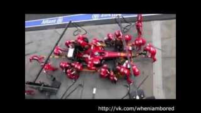 Сравнение пит-стопа Формулы-1 в 1950 году и в 2013! Разница очевидна! :)