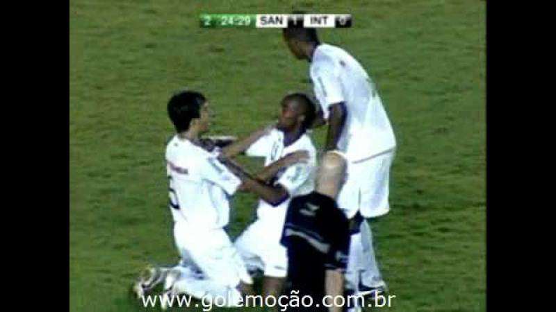 GOL Emoção: Santos 1 x 0 Internacional - Radio Jovem Pan - Brasileiro 2008 35ª rodada