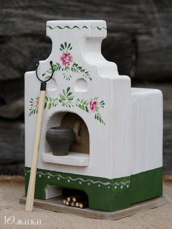 Русская печь из картона своими руками поделка