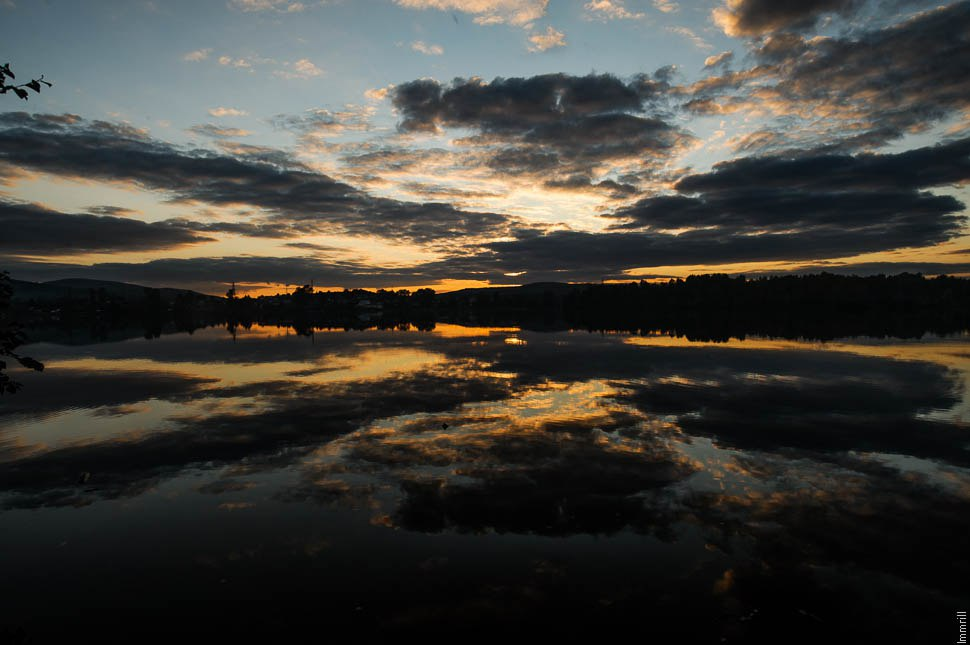 Закат на Баранчинском пруду