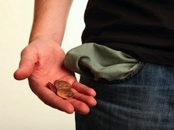 денег ноль