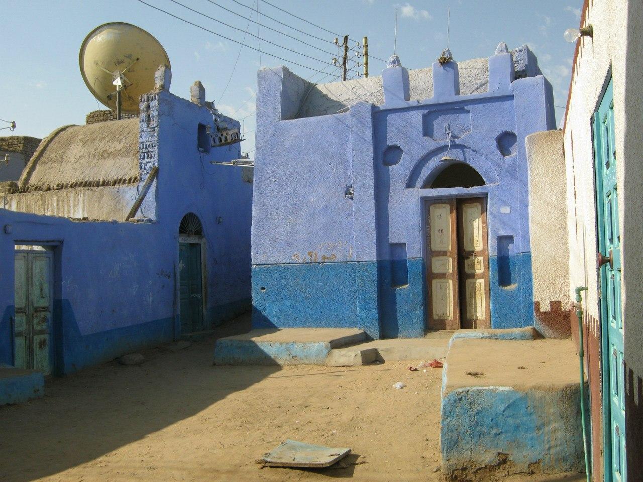 в нубийском селе (на западном берегу Асуана)