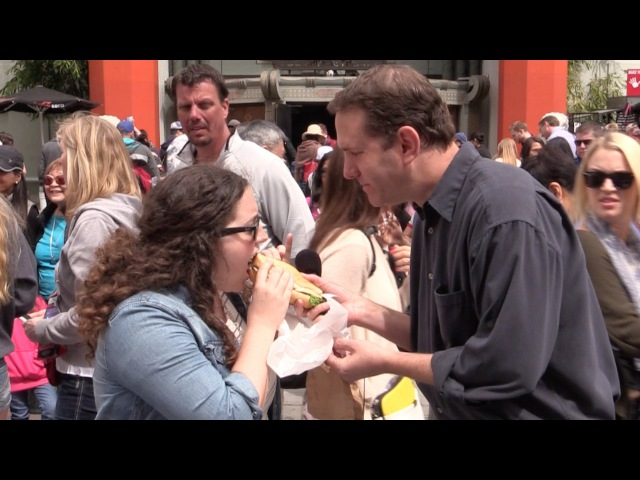 MediocreFilms - HUNGRY REPORTER PRANK with R.A. The Rugged Man!