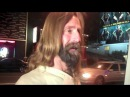 Snoop Dogg meets Jesus on Sunset Blvd. in Hollywood CA 12/25/2010