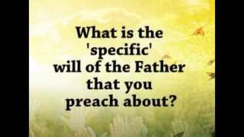 What is the 'specific' will of the Father? by Pastor Apollo Quiboloy | SMNI