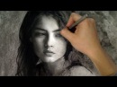 Gorgeous Wistful Girl - This Is Why you should try charcoal over graphite - Art Drawing Video