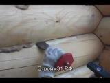 Конопатка сруба бани