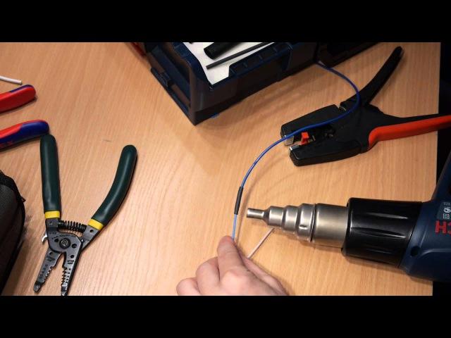 Соединение одножильного и многожильного проводников