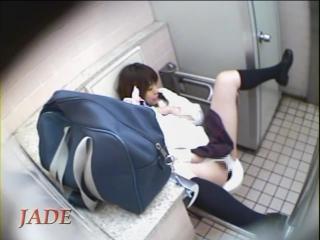 Hidden Cam - Toilet Masturbation Jade Extra 6