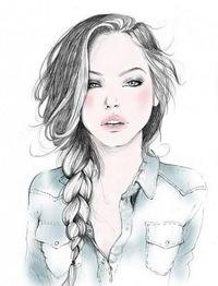 фото рисунки фото девушек