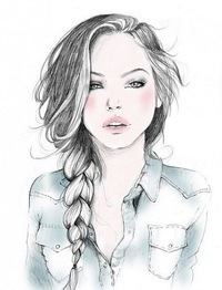 картинки рисунки девушки