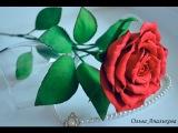 Мастер-класс: Роза на стебле из фоамирана