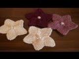 Knitting. Knitting flower. Tutorial Вязаный спицами цветок.