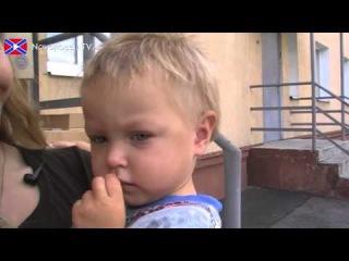 Передача гуманитарной помощи сиротам в Макеевке.