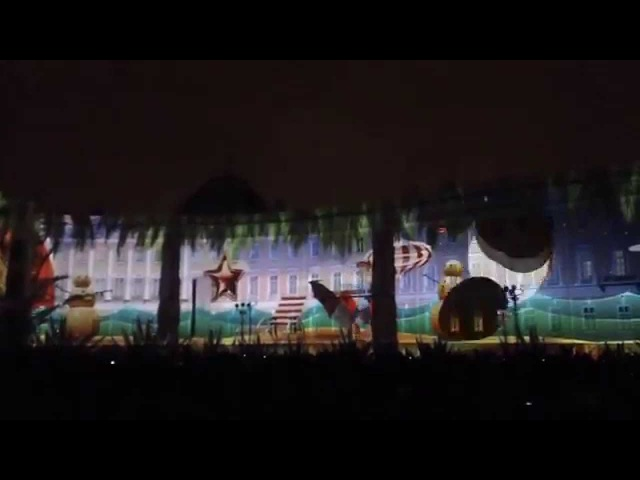 3D Mapping show on Palace Square, St.Petersburg 2014