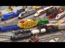 My LEGO Trains in action! 🚄 45 locomotives cars 🚂