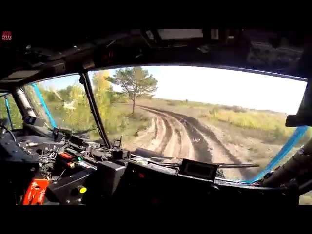 Газовый КАМАЗ - новый газо- дизельный двигатель | Видео из кабины грузовика KAMAZ-master