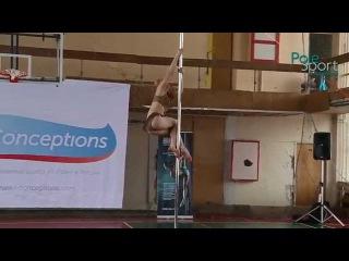 Отбор ЦФО Соревнований по Шестовой акробатике'15 Едемская Дарья