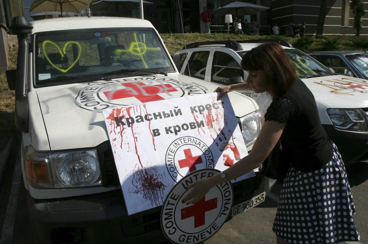 Дончане против лицемерия ОБСЕ и Красного Креста