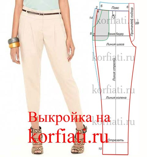 Как сшить женские брюки своими руками