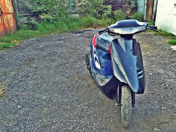 Скутер на ходу!