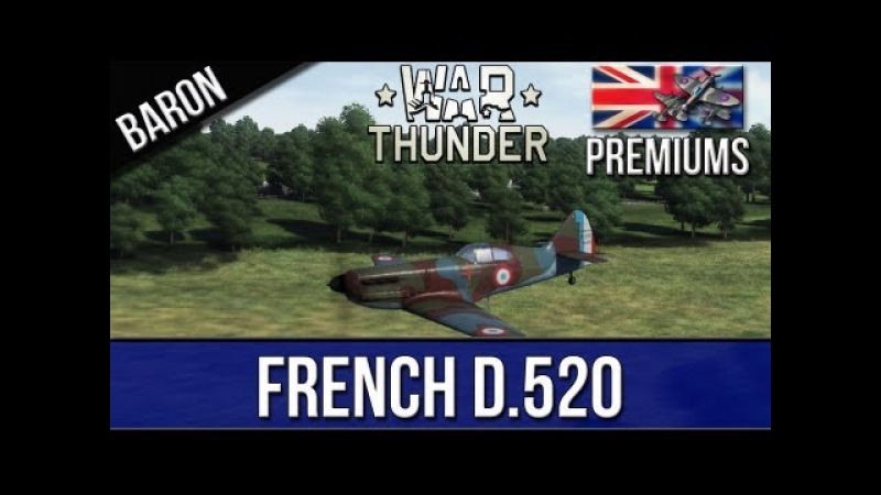 War Thunder - Dewoitine D.520 - British Premium Plane