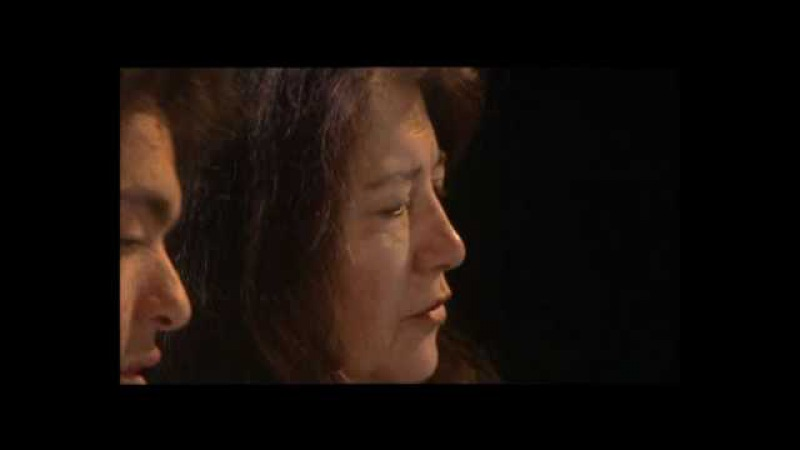 Argerich and Kissin piano 4 hands - Mozart Sonata KV 521 (part 1/2)